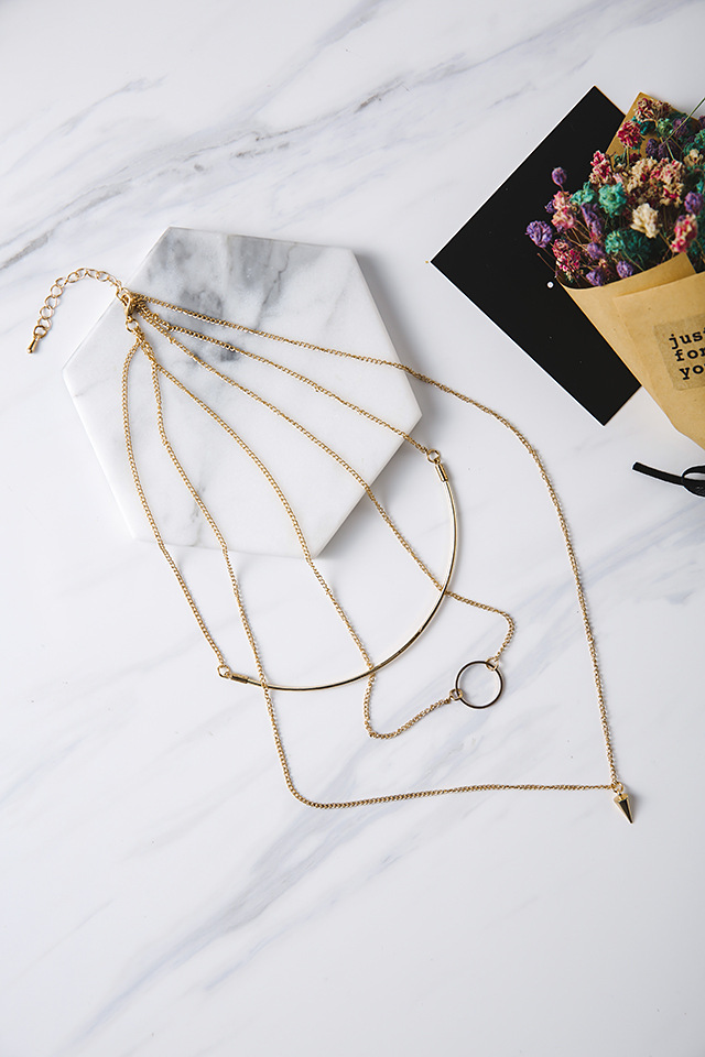 Womens geometric plating alloy Necklaces MS190430120098