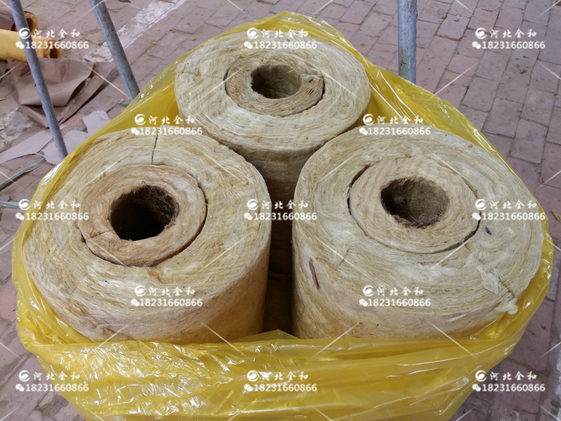 防火纯铝铝箔贴面岩棉管|W38贴面岩棉管|黑色铝箔贴面岩棉管图片