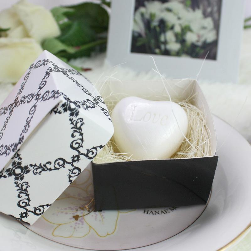 情人节小礼物 欧式心形香皂礼盒 创意迷你手工皂批发 活动奖品
