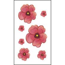 鲜花玫瑰花纹身贴厂家淘宝爆款赠品玫瑰花梅花防水纹身贴可爱贴纸