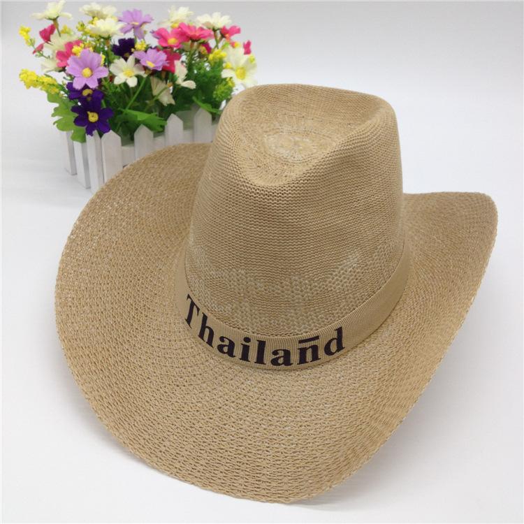 Summer Western popular brand Soft Straw cowboy hats for men chapeau cowboy  straw cowboy hat 30c3b54f9116