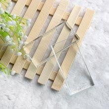长方形水晶玻璃片 美妆嫁接睫毛工具 种植睫毛胶水专用垫片水晶台