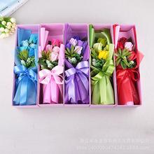厂家直销 香皂花肥皂花玫瑰礼盒情人节公司活动婚庆创意礼物
