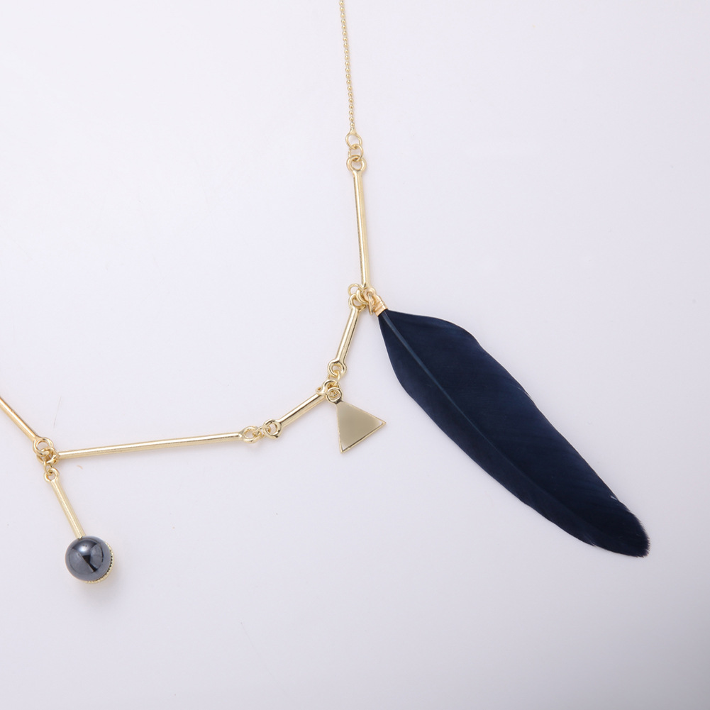 Womens tassel plating Hot sale beads clavicle chain fashion alloy Necklaces XS190419118398