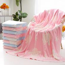 高阳厂家直销 针织童被婴童用品家纺 纯棉婴儿纱布浴巾 批发