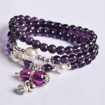 天然紫水晶手链 招财转运葫芦铃铛多层多圈串珠时尚女首饰品批发