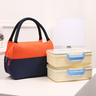【Lunch bag】Portable cold insulation canvas lunch bag takeaway lunch box lunch bag lunch canvas lunch bag