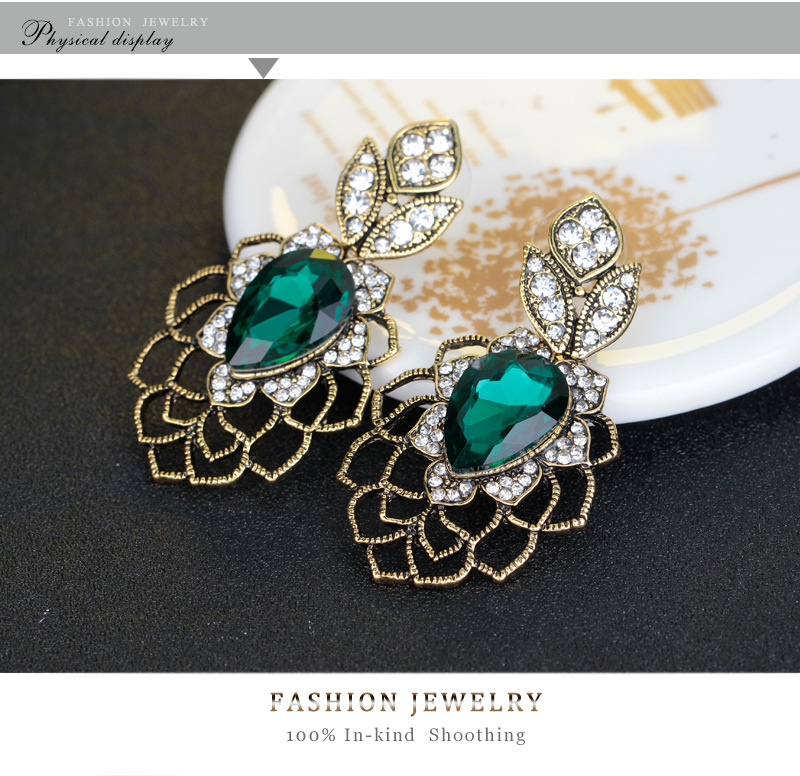 Retro alloy plating Earrings (BA070-A)NHDR1866-BA070-A
