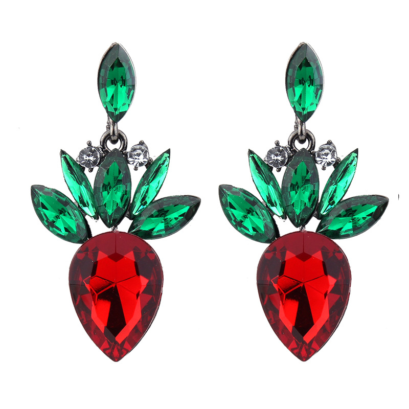 Occident alloy Drop shape earring ( AB color ) NHJQ7054