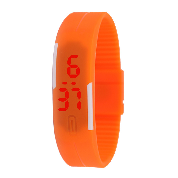 Thin band LED bracelet watch fashion touch electronic student gift watch black one size 25