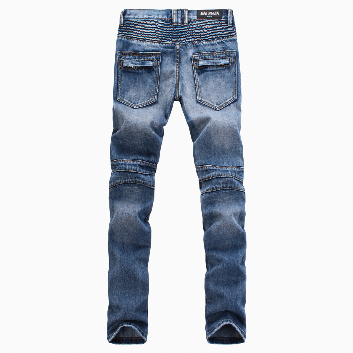 Discount Men Biker Denim Jeans Pleated Hip Hop Mens Ripped Jeans ...