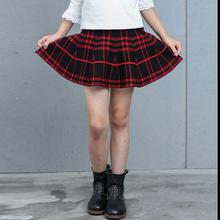 一件代發秋冬新款童裝中大女童針織裙短裙半身裙百褶蓬蓬傘裙熱批