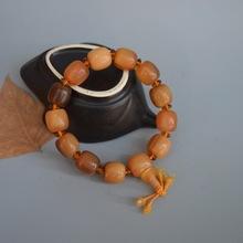 天然正品西藏牦牛角手串桶珠牛角佛珠手链念珠男女情侣款手珠