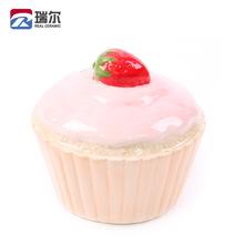 陶瓷钱罐定制 陶瓷草莓储钱罐 创意草莓储蓄罐 白云土手绘储蓄罐