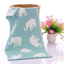 純棉三層紗布毛巾卡通提花兒童柔軟大毛巾嬰幼兒面巾家用禮品毛巾
