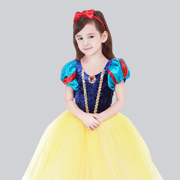 儿童白雪公主裙女童圣诞节万圣节连衣裙演出服礼服表演服装欧美