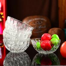 厂家直销钻石水晶玻璃碗单只 整?#20449;?#36215;售 礼品碗 节日广告促销