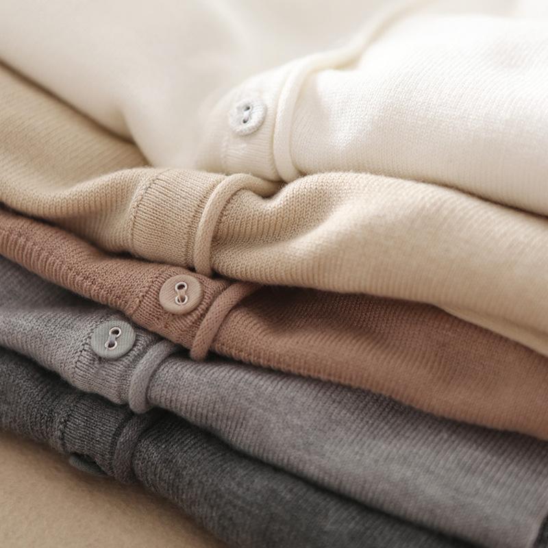 私物 出口品质 韩国简约纯色V领针织衫 修身百搭针织开衫短外套