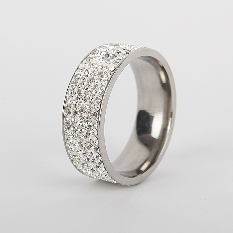 Titanium&Stainless Steel Fashion Geometric Ring  (8MM steel color 6) NHTP0033-8MM-steel-color-6