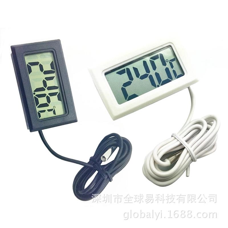 厂家直销 电子数显 数字温度计 鱼缸冰箱水温表 测温仪 防水探头