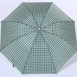Yu huan Genuine Umbrella 359 Male Lattice Fashion Business Rain Or Shine Three Folding Umbrella Simple Plaid Umbrella