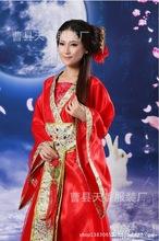 新款舞台表演 仙女嫦娥小龙女服 古装新娘武侠演出女士成人礼服装