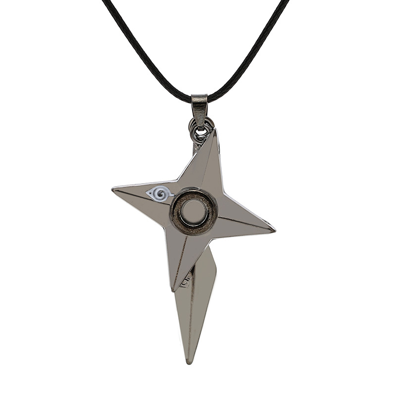 fashion explosion necklace anime jewelry naruto shuriken pendant necklace online games same paragraph chain clavicle chain wholesale nihaojewelry  NHMO219145