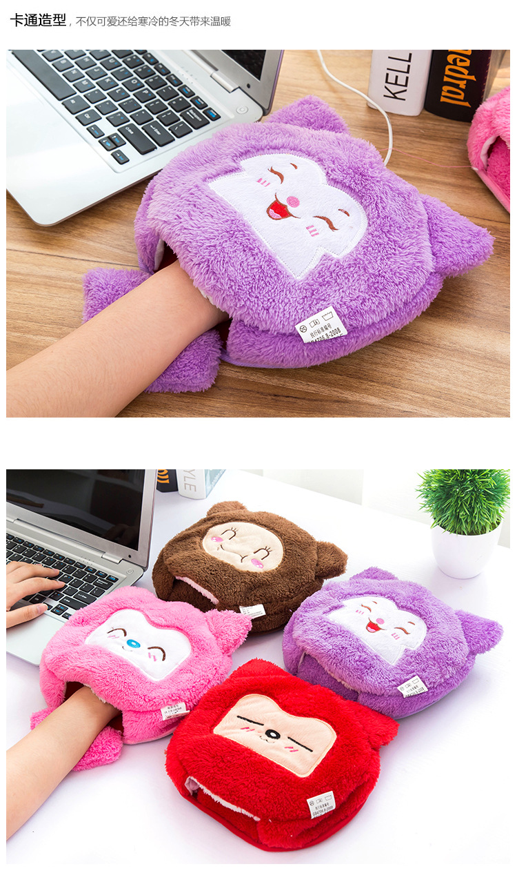 ???( ? )Cute gaming large ( ^ ^)? pad pad mat paws warm in winter USB ? heated heated mouse pad ...