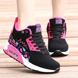 Autumn and winter new casual air cushion sports shoes trend board shoes high to help girls explosion models