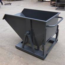 蘇州新款黑色自卸式鐵屑車/帶叉車槽專業配合叉車使用可定做廠家