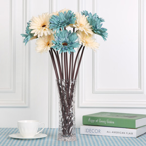 Home decoration silk flower rich and precious gerbera daisy bouquet Single artificial flower Daisies decorated with fake flowers