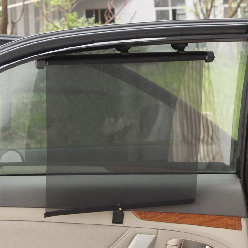 汽车用品 对装网纱自动收缩遮阳卷帘 太阳挡 汽车遮阳挡 R-3502