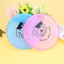批發 超韌性寵物飛盤 塑料狗臉飛盤 卡通狗飛盤 寵物飛碟 狗玩具