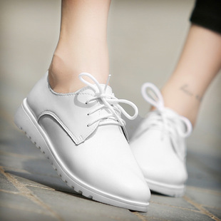 Spring new casual women's shoes flat single shoes female Korean version of the small white shoes flat heel small leather shoes women's trend