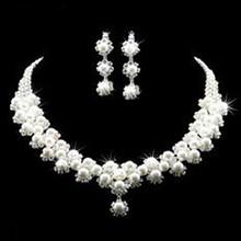 韩国风珍珠项链 新娘饰品时尚项链 球形耳环饰品厂家批发