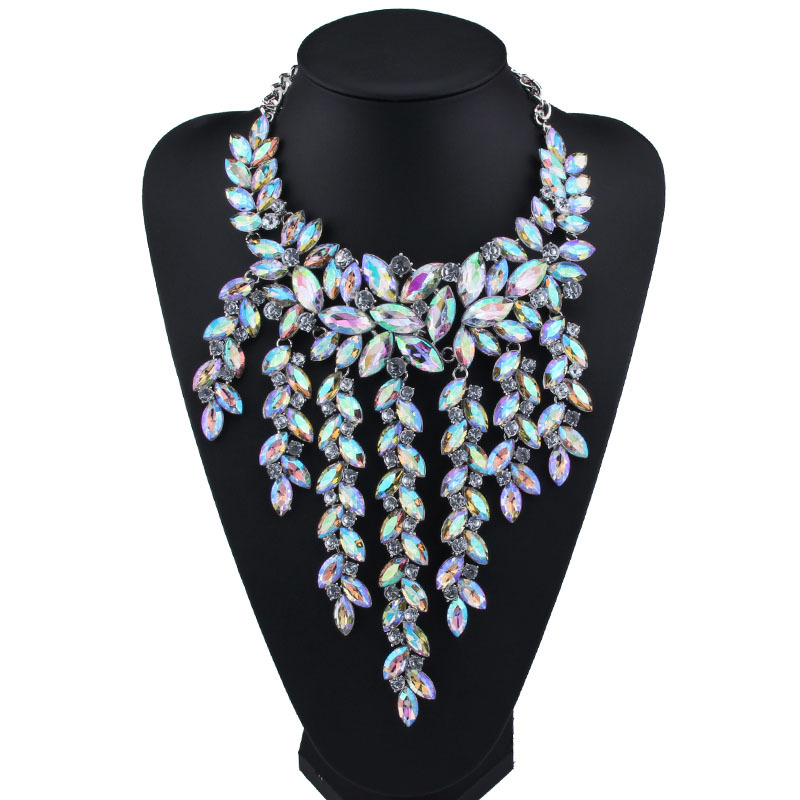 Occident and the United States alloy Rhinestone necklace (AB color) NHJQ7311