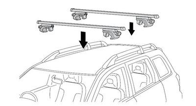 通用款车顶行李架 车顶横杆 SUV通用 原车带分离式纵杆