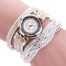 麻花女士手链表 韩国绒绕圈铆钉手链表 女士手链表duoya品牌手表