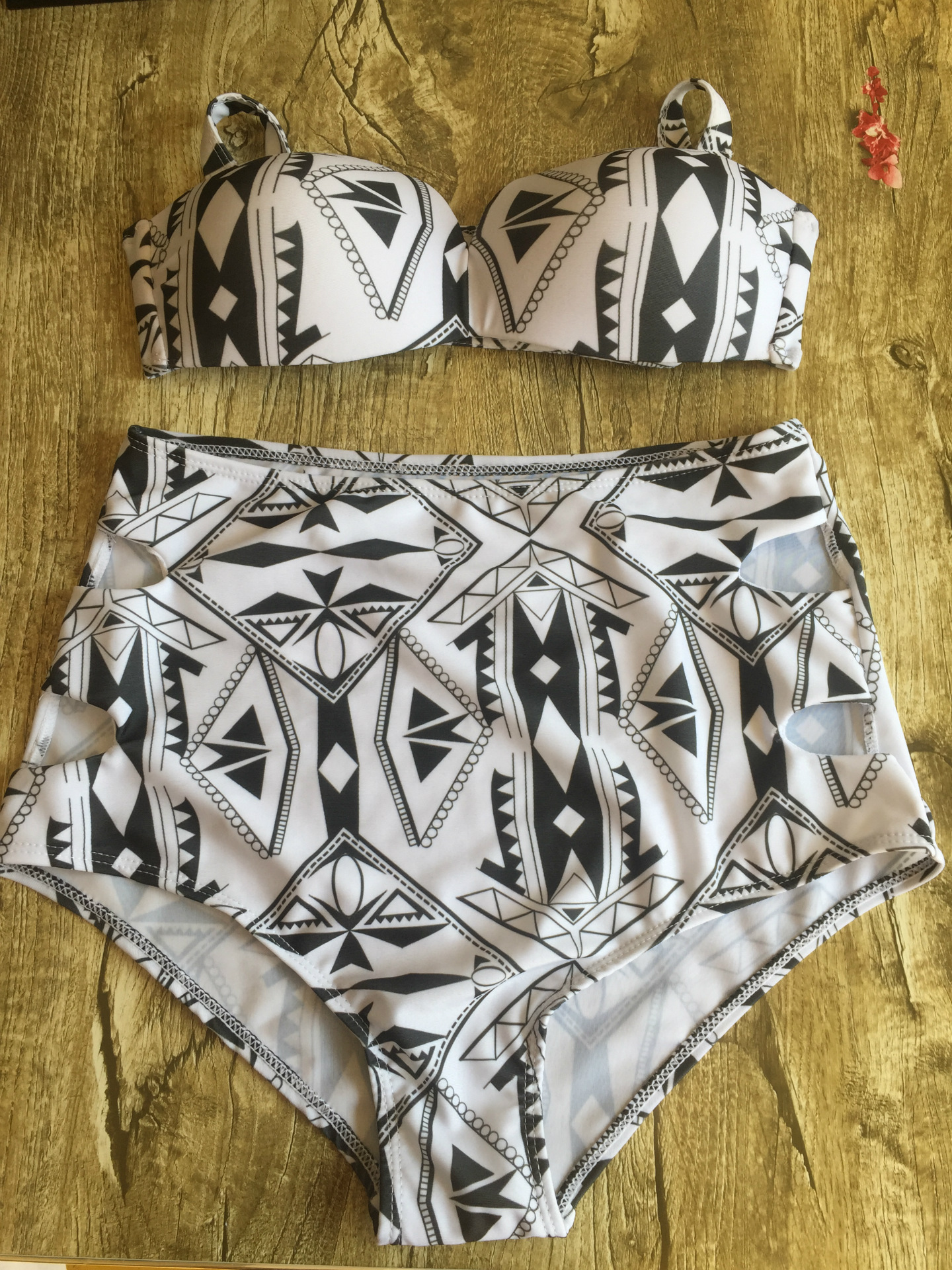 Polyester Fashion  Bikini  (Geometry-S)  Swimwear NHHL2080-Geometry-S