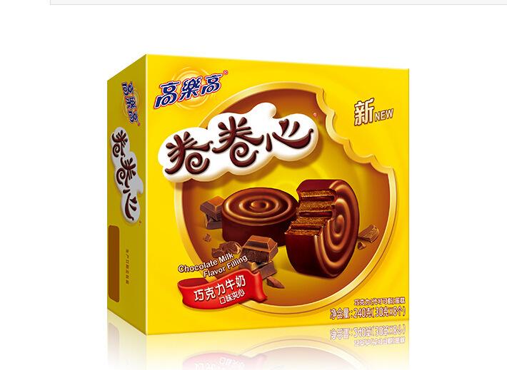 高乐高卷卷心蛋糕 早餐下午茶 巧克力味 草莓味 一箱8盒 独立包装