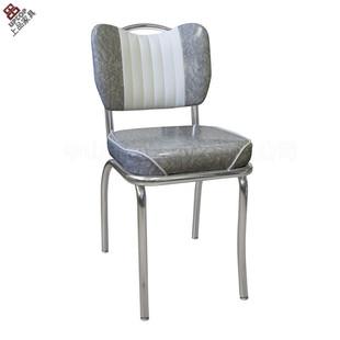 工厂直销深圳【SP-LC293】现代餐椅椅子|金属电镀软包椅|PU皮餐椅