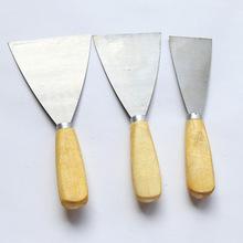 油灰刀厂家 木柄油灰刀 墙壁填缝刮腻子刀 清洁刀 可印logo铲刀