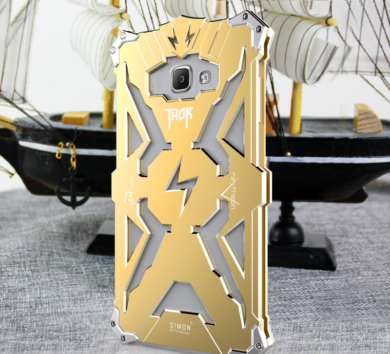 SIMON THOR Aviation Aluminum Alloy Shockproof Armor Metal Case Cover for Samsung Galaxy A7 (2016) A7100 A7108