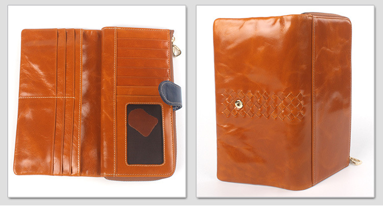 leather checkbook wallet for women
