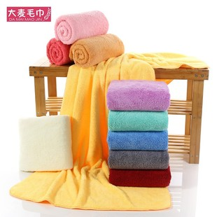 Factory direct coral fleece bath towel 70*140 thick and quick-drying beach towel absorbent adult fiber soft towel