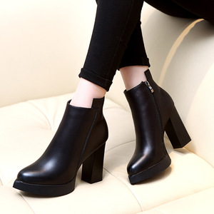 Martin boots fashion short boots pointed joker thick heel naked boots