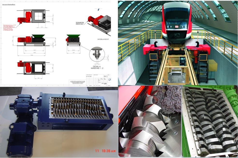 火車地鐵不落輪對車床用碎屑機