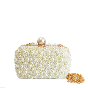 Europe and the United States high-grade pearl dinner packages Beaded hand bride evening bags fashionable female bag