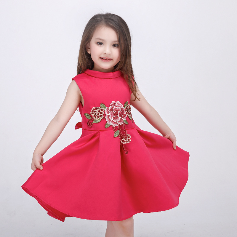 2018 Summer New High Grade Baby Kids Girls Princess Dress Flower