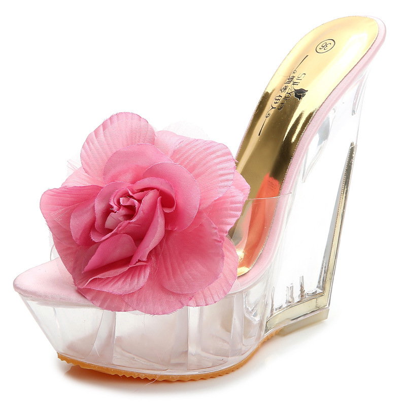 Flower Transparent slippers of Wedge's main photo